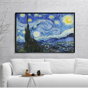 Starry Night by Vincent Van Gogh Famous Artist Art Print Wall Picture Canvas Oil Painting Home Wall Decor