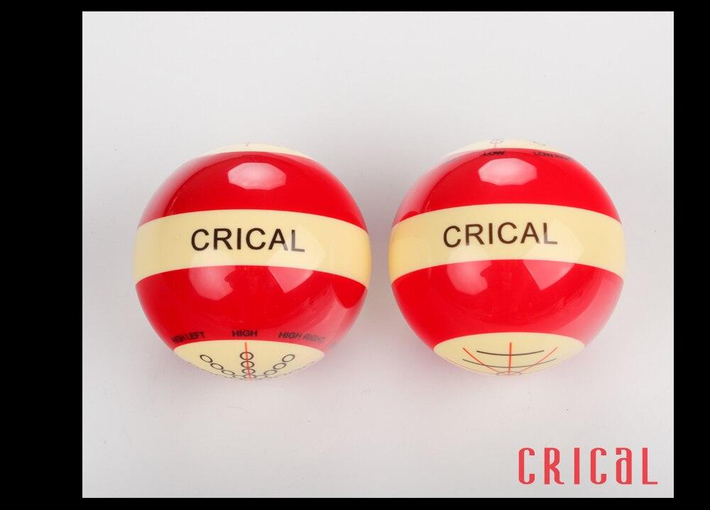 Novo crical bilhar bola de treinamento padrão