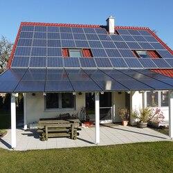 Kit Solar Panel 1000w 2000w 3000w Hybrid Inverter 3kw 220v AC MPPTSolar Charge  Controller 30A 24V/48V DC UPS Off Grid System RV
