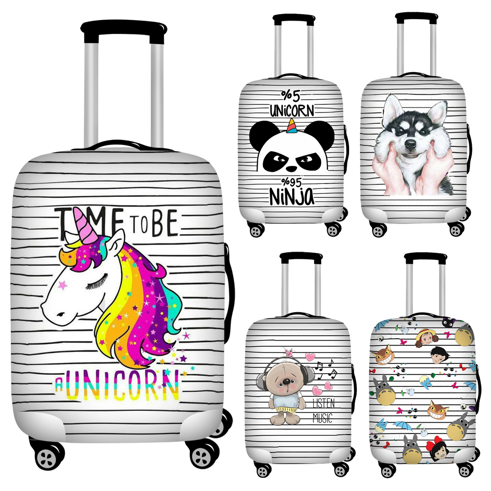 Nopersonality Striped Animals Travel Accessories Luggage Cover Suitcase Protection Panda Cover Baggage Dust Cover Suitcase Cover