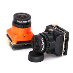 Czarny/pomarańczowy FPV przez maszynę kamera HD 1500TVL z płytą tuningową OSD szeroki kąt 2.1MM kamera FPV dla dron FPV