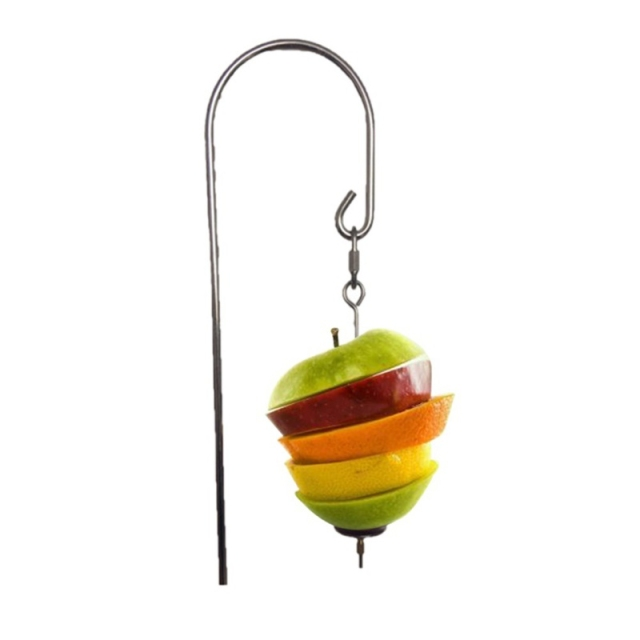 Bird Accessories Parrot Fruit Stick Stainless Steel Toy Holder Food Meat Stick Fruit Tool  Durable Bird Cage Accessories 1