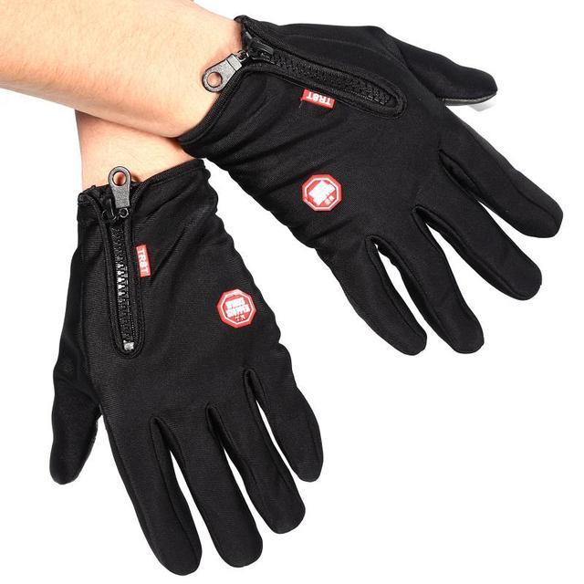 Outdoor Winter Windstopper Gloves Full Finger Gloves Men Women Touch Screen Gloves Bicycle Gloves Winter Warm Mittens 5