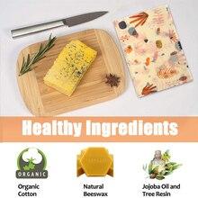 3Pcs Organic Cotton Beeswax Wrap Fresh-Keeping Cloth Creative Kitchen Storage Cotton Food Fresh-Keeping Cloth