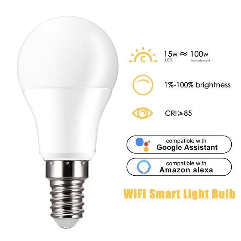 Firya Smart WiFi Light Bulb 15W Voice Control Magic Light Bulb Lamp WakeUp Lights Compatible Alexa and Google Assistant Dropship
