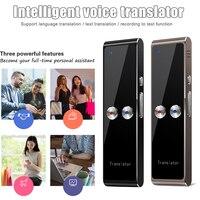 Smart Sprache Übersetzer Gerät Handheld Stimme Übersetzung Maschine Unterstützung 68 Sprachen für Reise Business PUO88-in Digitales Diktiergerät aus Verbraucherelektronik bei