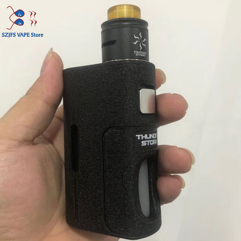 Original Yiloong Fogger Aurora Squonk Box Mod 8ml Silicone Bottle18650/20700/21700 Battery Auto-adjusting Vape THC Thunder Mods