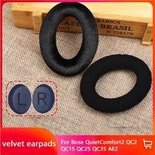 Oreillettes en velours de remplacement, pour Bose quietcomfort t2 QC2 QC15 QC25 QC35 AE2 AE2i SoundTrue SoundLink