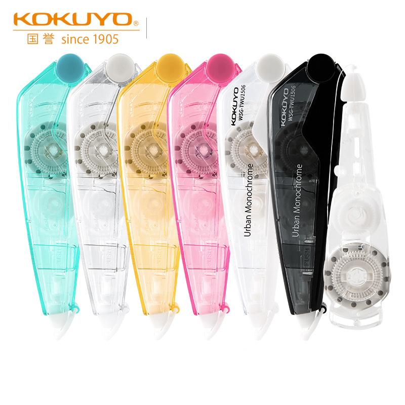 KOKUYO Pastel Cookie Correction Tape WSG-TWC1506 Transparent Simple Design Correct Mistakes Creative Stationery Replaceable Core