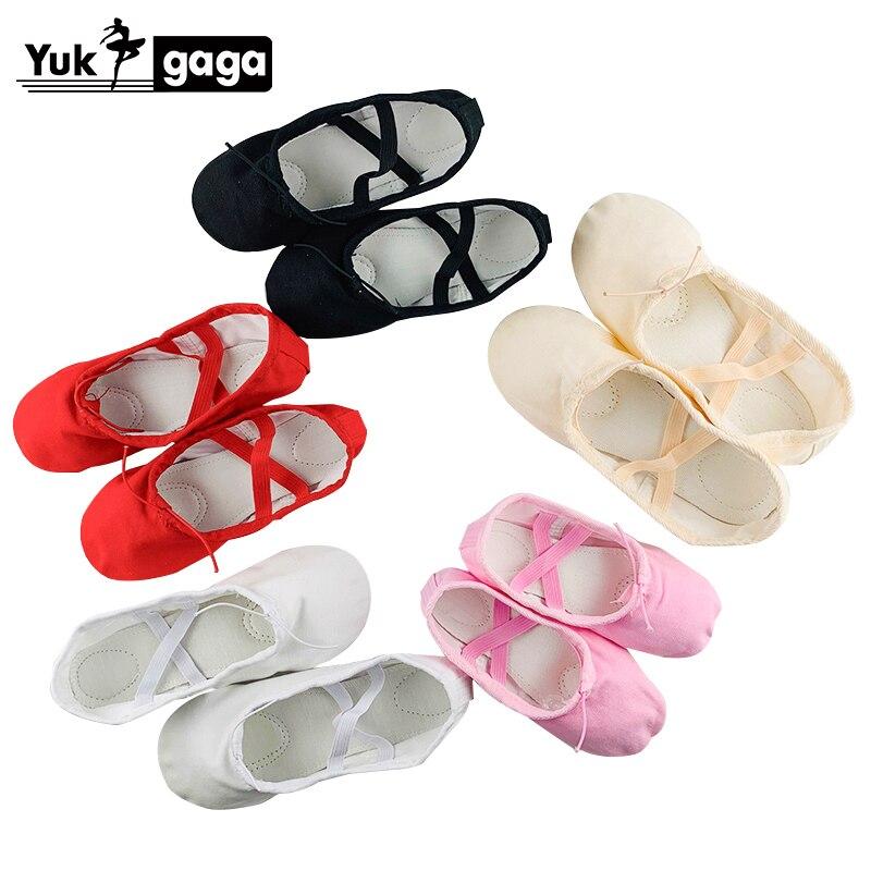 Yukigaga Kids Ballet Shoes Canvas Ballet Dance Slippers Split Sole Girls Childern Ballerina Practice Shoes For Dancing