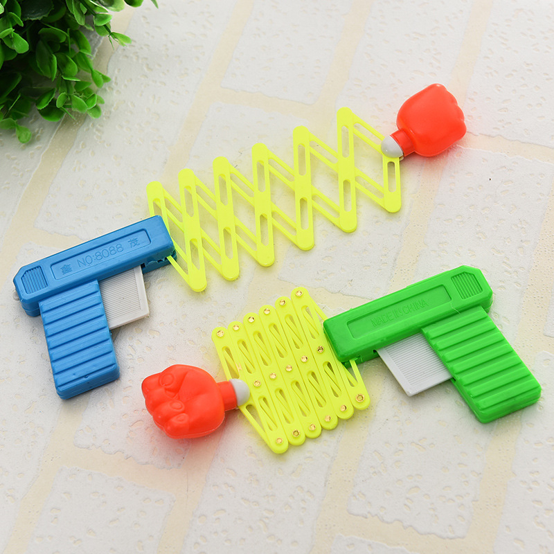 Retractable Fist Shooter Trick Toy Gun Funny Child Kids Plastic Party Festival Gift  For Fun Classic Elastic Telescopic Fist Toy
