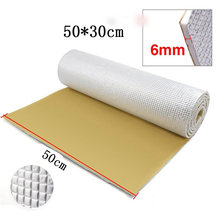 Inner Sound Insulation Mat Soundproof Aluminum+PE cotton Accessories Universal(China)