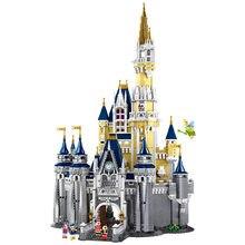 Em estoque princesa castelo 71040 16008 cinderela princesa magia castelo tijolos blocos de construção crianças brinquedos tijolos cidade amigo rua