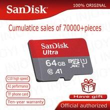 SanDisk карта памяти Micro SD 16 ГБ 32 ГБ 64 Гб 128 Гб MicroSD Max 80 м/с Uitra C10 TF карта C4 8G cartao de memoria