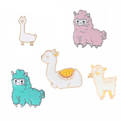Animal Story ! Lovely Cute Small Soft Fluffy Baby Sheep Camel Slpaca Enamel Brooches Pins Tender Warm Sweater Accessories