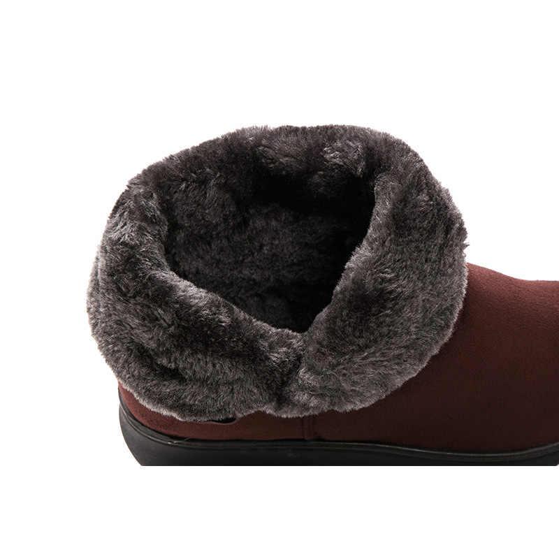 Femmes bottines femme bottes d'hiver mode hiver chaussures femmes bottes chaussons chaud fourrure daim Bota femmes bottes de neige Botas Mujer
