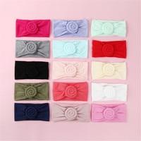 50 PCS/Lot Rose Flower Wide Nylon Bow Headband, Soft Elestic Head wraps, Cute Nylon Turban Headband Girls Hair Accessories