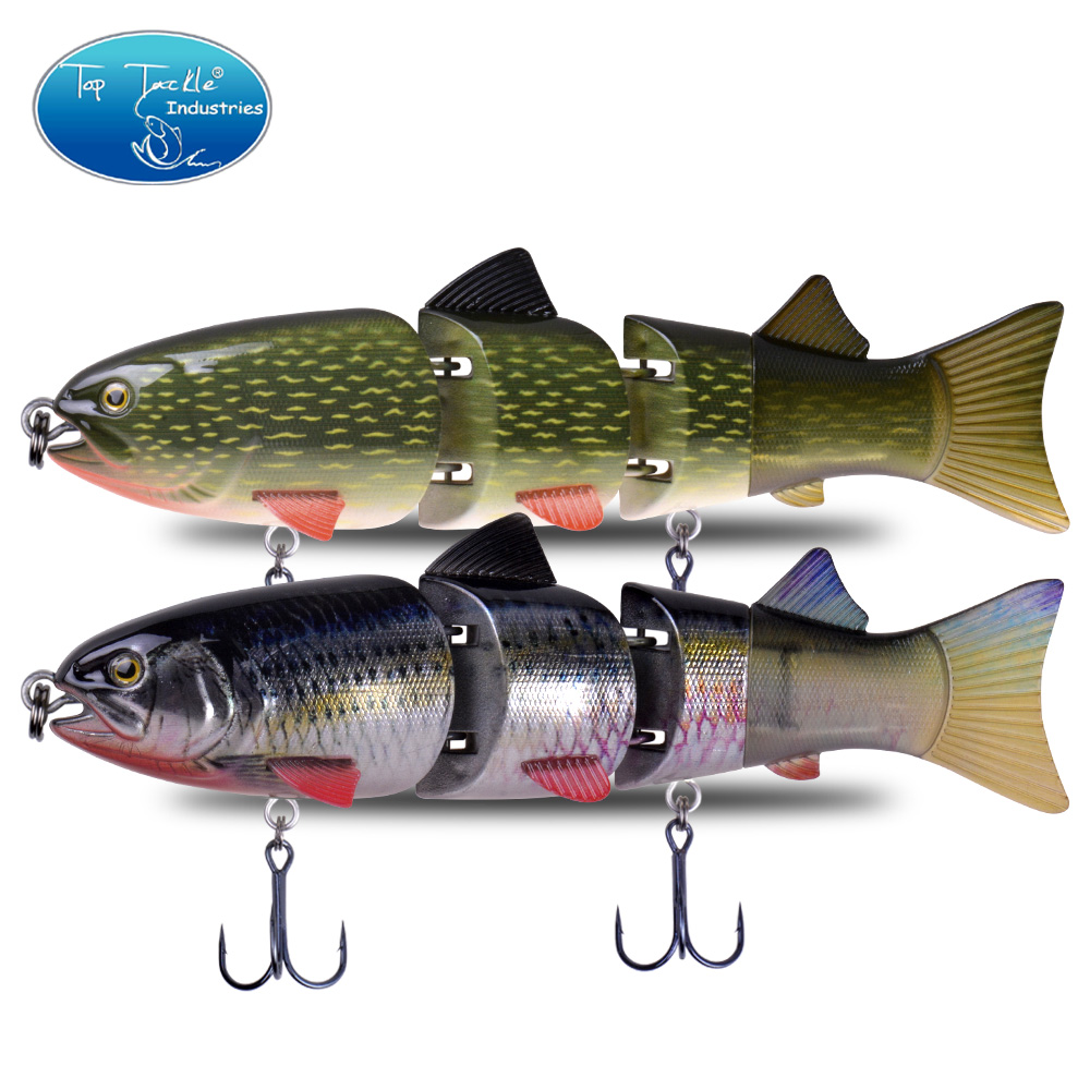 215mm 155g CFLURE Slow Sinking High Quality 4 Segments Jointed Bait Swimbait Pike  Fishing Lure 7Colors