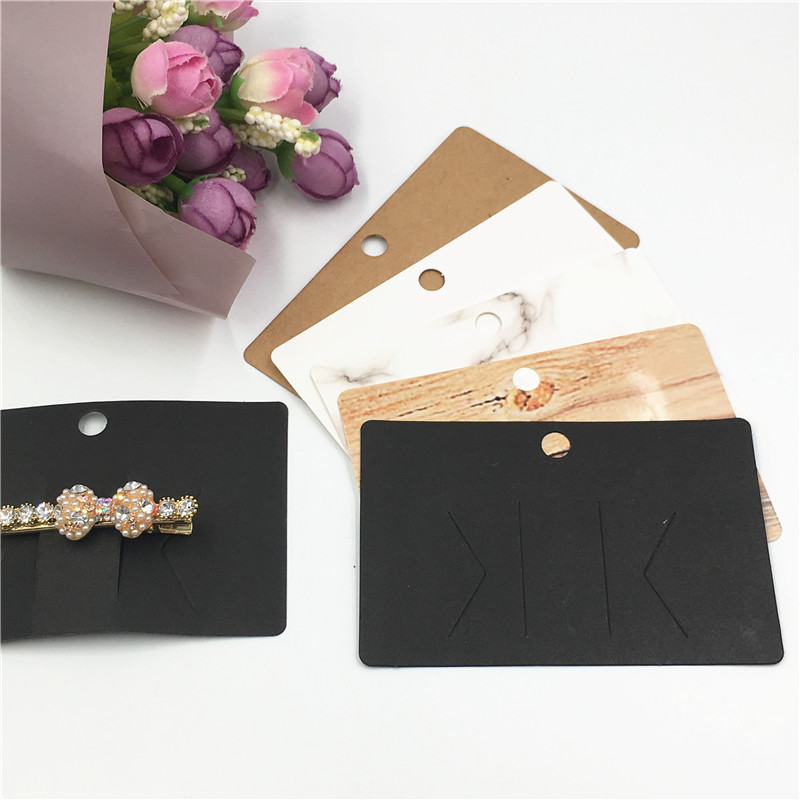 50Pcs Multi-Style Paper Hairpin Card 6.5x10cm Vintage Jewelry Display Cards DIY Woman Hair Ornaments Clip Packaging Cards