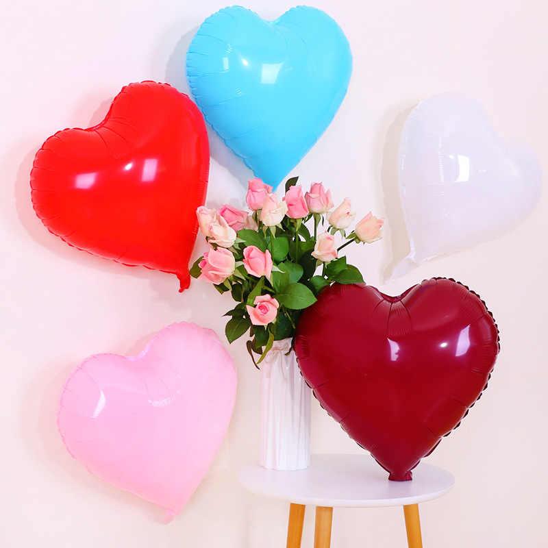 อุปกรณ์จัดงานแต่งงานหัวใจวันเกิดบอลลูนปาร์ตี้ตกแต่งหัวใจบอลลูนฟิล์มอลูมิเนียม Candy-สีสุทธิสีแดงบอลลูน Wholesa