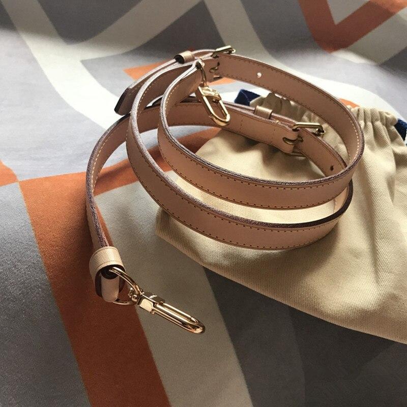 Partes de bolsos y accesorios bolsos de marca correa de cuero genuino longitud 115cm bolso de alta calidad de cuero curtido vegetal correa de hombro