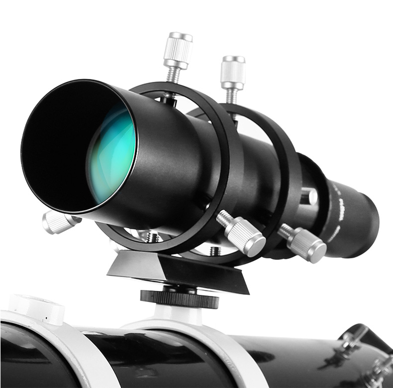 Aquila 50mm Guide Scope Finderscope with Bracket Helical focuser with Metal Screw 50mm