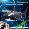 2.4G 4CH RC Black Shark Robot Toy With LED Light Waterproof Simulation Model Electric Animal Racing Boat Gifts Toys for children