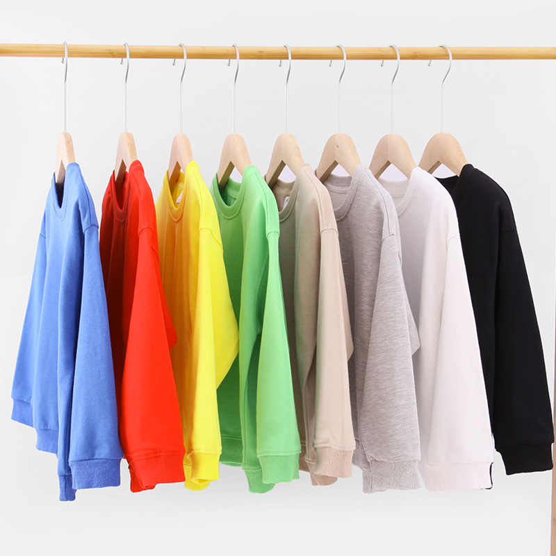 Kids Boys Solid Color T-shirts Sweatshirt Tops Baby Long Sleeve Children Autumn Spring Boy Girl Cotton T Shirts Clothes 1