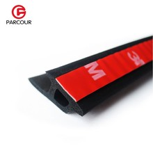 2M P-Type Door Seal Car Edge Rubber Waterproof Dustproof And Soundproof Rubber Strip 3M Adhesive Auto Accessory