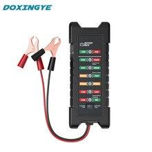 12V 24V  Car Battery Tester Quick Cranking Digital Tester Alternator 7 LED Display Auto Alternator State Diagnostic Tools