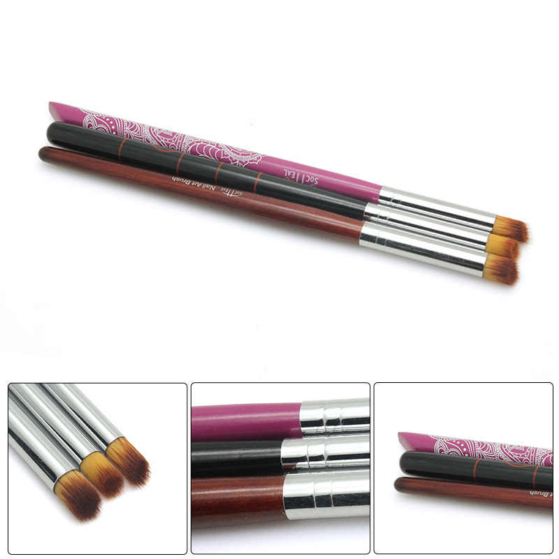 3 kleur Nail Art Liner Schilderij Pen 3D Tips DIY Acryl UV Gel Penselen Tekening Kit Bloem Lijn Raster Franse ontwerp Manicure Tool