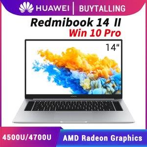Original Xiaomi RedmiBook 14 II Laptop 2020 Version AMD Ryzen R5-4500U/R7-4700U 8GB/16GB DDR4 512GB SSD Windows 10 Pro