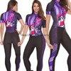 Macacão feminino triathlon profissional, roupa de ciclismo, camisa de manga curta, calça longa, macacão para andar de bicicleta 16