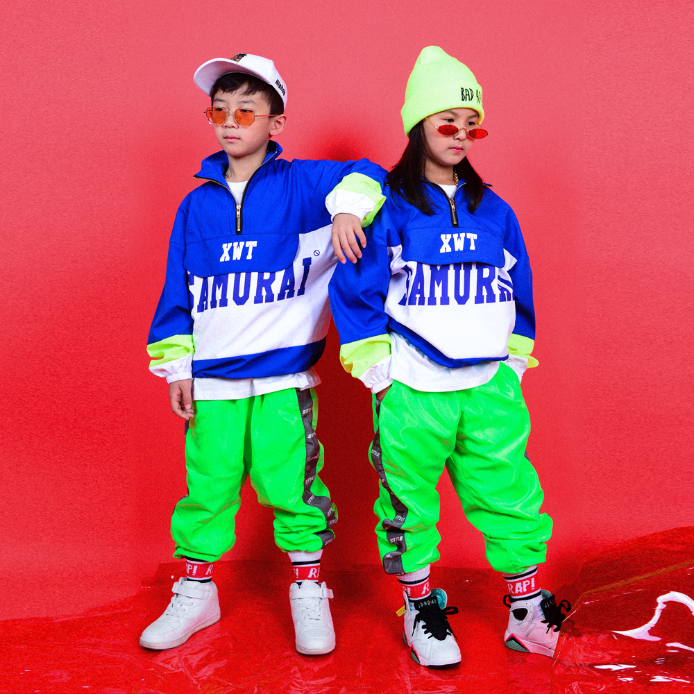 Children'S Hip Hop Dance Costumes For Boys Street Dance Set Girls Jazz Dance Costumes Tide Hiphop Stage Show Dance Wear DQS3421