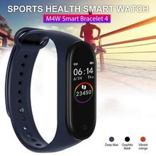 M4W Smart Bracelet 4 Heart Rate Blood Monitor Bluetooth Fitness Sport Smart Band Mobile Search Remote Camera Shooting(China)