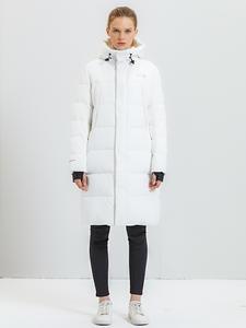 Женское длинное пальто с капюшоном Tiger Force, повседневное теплое пальто с капюшоном, зима 2019