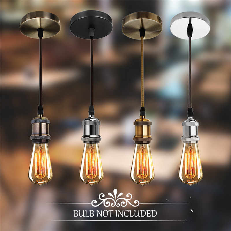 Smuxi E27 Retro Chandelier Socket Bulb Holder + Suction Cup Family Restaurant and Cafe Lighting Decorative Light Accessories