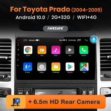 AWESAFE PX9 para Toyota Land Cruiser Prado 120 2004 -2009 auto Radio Multimedia reproductor de Video GPS de navegación no 2din DVD Android 10