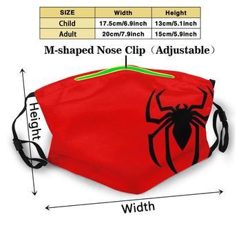 Spider Symbol Diy Adult Kids Face Mask Spider Web Logo Superhero Hero Comic Arachnid Wall Crawler Insect Red Black Comics Movie 1