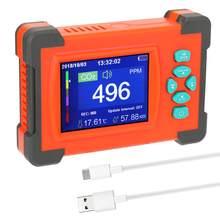 0-9999PPM CO2 dedektörü taşınabilir karbon dioksit dedektörü CO2 ölçer hava kalitesi izleme hava kalitesi dedektörü 3.2