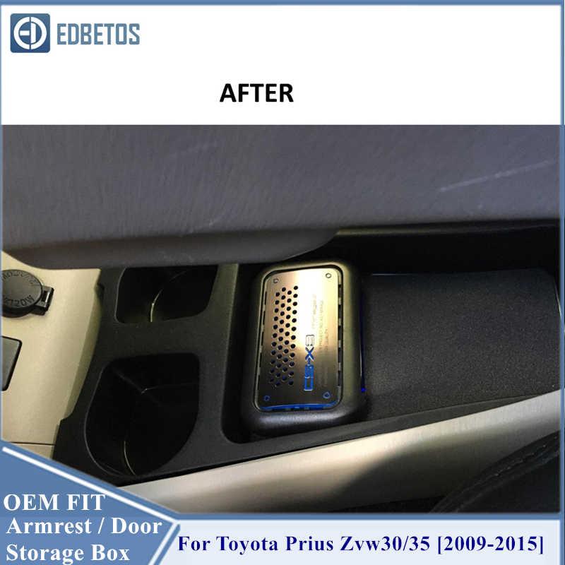 Sandaran Tangan Kotak Prius Zvw30 35 2009-2015 Pusat Konsol Sarung Tangan Penyimpanan Kotak Organizer Masukkan Tray untuk Toyota Prius Zvw30 aksesoris