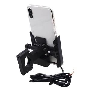Image 4 - Đa Năng Xe Đạp Xe Máy Tay Cầm Giữ Điện Thoại Di Động Gắn Chân Đế Với Củ Sạc USB Dành Cho 4 6.5Inch ĐTDĐ Whosale