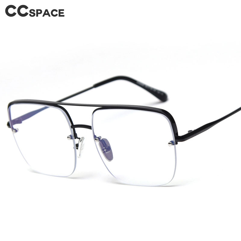 47336 Square Half Frame Anti-blue Ultralight Glasses Frames Men Women Optical Fashion Computer Glasses