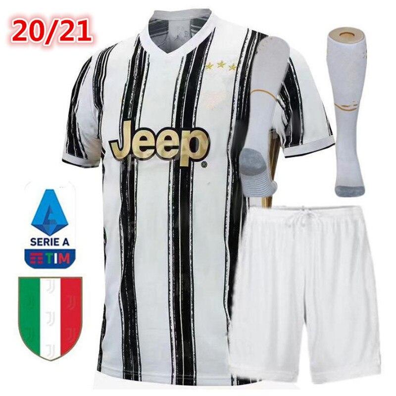 Nuevo 20 21 parche nuevo juvees adultos y niños kit DE fútbol Jersey casa Ronaldo DE LIGT DYBALA 2020 21 niño Juventuses camiseta DE fútbol|Camisetas| - AliExpress