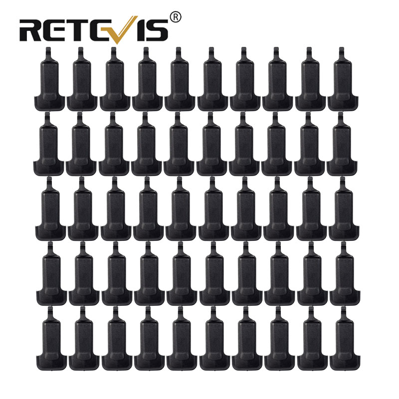 50pcs Walkie Talkie Belt Clip For Retevis RT22 For WLN KD-C1 Two Way Radio Accessories J9121T