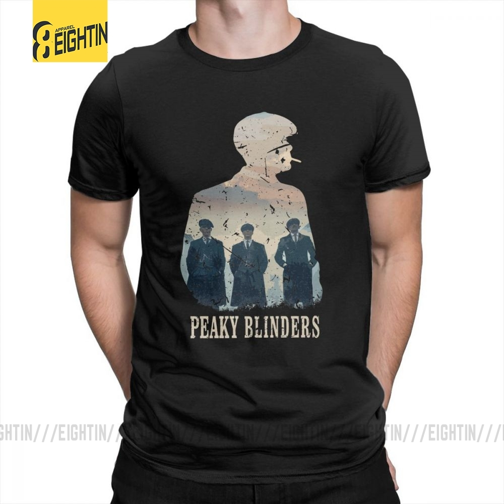 Peaky Blinders T Shirts Unique Leisure Pure Cotton Male T-Shirts Short Sleeved O-Neck Tee Shirts Plus Size Popular Movie