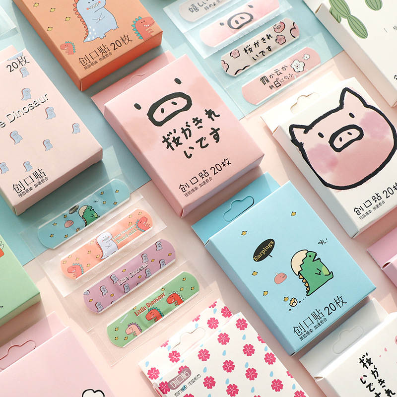 Band Aid Adhesive First-Aid Outdoor Kids Cartoon Cute Children Emergency Portable Hemostasis