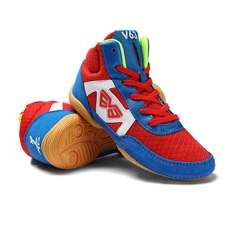 New Arrive Children Wrestling Shoes Girls Boys Training Shoes Cow Muscle Outsole Sport Boots Sneakers Professional Boxing Shoes
