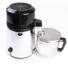 750W 4L su damıtma cihazı ev distile saf su makinesi damıtma arıtma filtre paslanmaz çelik su filtresi