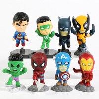 Superheroes Set of 8 Mini Figures 2